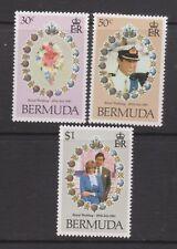 1981 Royal Wedding Charles & Diana MNH Stamps Stamp Set Bermuda SG 436-438