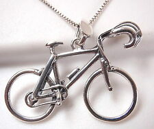 Bicycle Pendant 925 Sterling Silver Corona Sun Jewelry race bicycling club