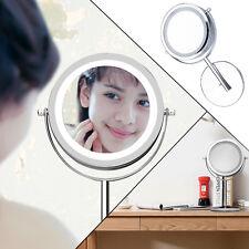 5-fach LED Beleuchtet Beauty Stand-Kosmetikspiegel Schmink-Spiegel Badspiegel DE
