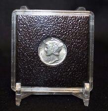 18mm Gold $2 1/2 Dollar 2x2 Coin Display QUADRUM INTERCEPT Capsule Snap + Stand