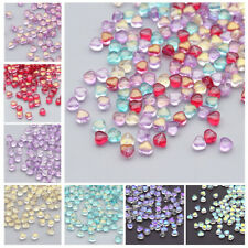 CHOOSE COLOR! 50Pcs 6mm Czech Lampwork Glass Heart Pressed Spacer Beads HH6894