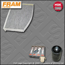 SERVICE KIT VW GOLF MK6 2.0 GTI CCZB FRAM OIL CABIN FILTERS PLUGS (2009-2013)