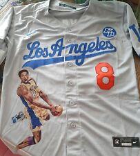 Kobe Bryant Los Angeles Baseball Jersey Grey New Nike style. Mamba Forever S2