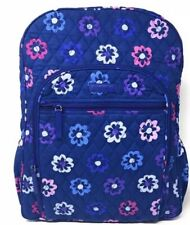 Vera Bradley Quilted Campus Backpack Ellie Flowers Pattern Blue Pink Purple NEW