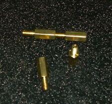 LOT DE HUIT ENTRETOISES LAITON HEXA 5  - M3 hauteur 10mm - MALE 6mm / FEMELLE