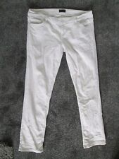 WAREHOUSE - WHITE, ZIP FLY LOW RISE  SKINNY JEANS SIZE 16