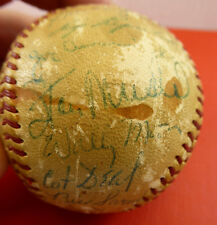 1954 St Louis Cardinals Team Signed Baseball Stan Musial 29 Sigs Game Used