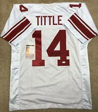 Y.A. TITTLE NEW YORK GIANTS AUTHENTIC AUTOGRAPHED JERSEY NFL FOOTBALL JSA