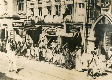 India, revolt in Bombay, August 1942 vintage silver print drawing silver 13