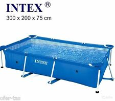 PISCINA RECTANGULAR DESMONTABLE FAMILIAR INTEX SMALL FRAME 300x200x75 cm