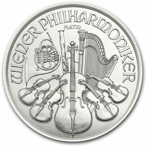 AUTRICHE 4 Euro Platine 1/25 Once Philarmonique 2021