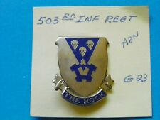 New listing Original U.S. 503Rd Infantry Airborne Regiment Crest Insignia-Maker Marked