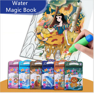 Water Painting Magic Books Reusable Colouring Book Art Stocking Filler Mess Free
