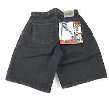 Vintage Levi Men's 30 Silver Tab Loose Fit Black Denim Shorts NWT