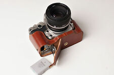 Genuine real Leather Half Camera Case bag cover for Nikon DF Bottom Open Version