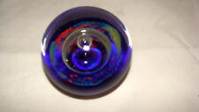 BLUE MULTI COLORED PAPERWEIGHT