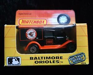 MATCHBOX MB38 FORD MODEL A VAN BALTIMORE ORIOLES 1989 - NEW in OPENED BOX