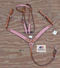 Alamo Saddlery Pink Gator Headstall & Breastcollar set~NWOT!~