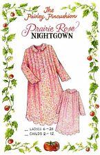 Prairie Rose Night Gown Pattern Ladies sizes