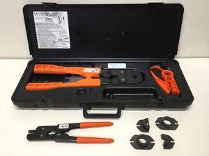 SharkBite 23100 Multi-Head Steel PEX Crimp Ring Tool Kit 3/8 1/2 5/8 3/4 Dies