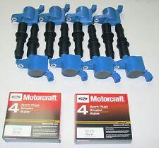 8+IGNITION COILS HEAVY DUTY BLUE DG511 +8 MOTORCRAFT PLUGS SP515/SP546