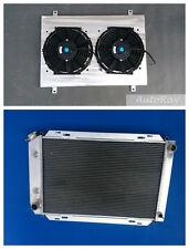 Aluminum Radiator + Shroud+ Fans  for Ford Mustang 79-93 80 88 89 90 91 92 1993