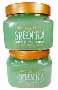 2 Tree Hut GREEN TEA Shea Sugar Scrub 18oz Purifies Balances Skin New Free Ship