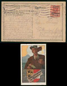 Mayfairstamps Austria 1920 Karnten Overprint Arms Picture Postcard wwr26875