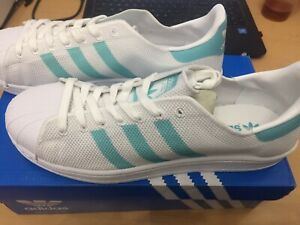 BA7137 Women's ADIDAS SUPERSTAR W in Mint Shoes Size 10 Retail $80