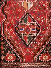 Vintage Geometric Abadeh Hand-knotted Area Rug Tribal Oriental Carpet 3x3 Square