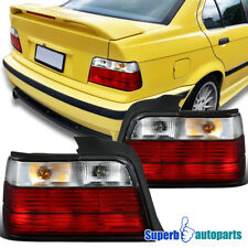 For 1992-1998 BMW E36 3-Series 4Dr Sedan Tail Lights Brake Lamp Smoke