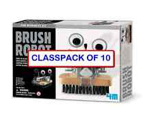 (CLASSPACK OF 10) TOYSMITH 4574 BRUSH ROBOT DIY KIT non solder