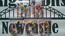 5 Sea fishing Rigs - 2 hook flattie flappers - Flounder, Plaice, Dab, Turbot