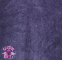 Whisper Fleece Solid Purple Polyester Fleece Fabric by the Yard