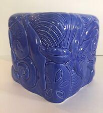 Blue Ceramic Seashells Tissue Box Cover Beach Decor For Square Tissue Box
