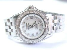 BREITLING CALLISTO A72345 WATCH WOMAN WRISTWATCH W/MOP Diamond Dial