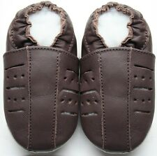 soft sole leather baby  shoes sandals brown  3-4y todler minishoezoo indoor