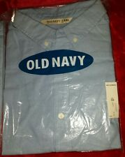 NEW WITH TAGS. Old Navy Oxford Shirt Color BLUE XXL 18 chambblu olx ss