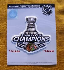 Official NHL 2015 Chicago Blackhawks Stanley Cup Final Champions Champs Patch