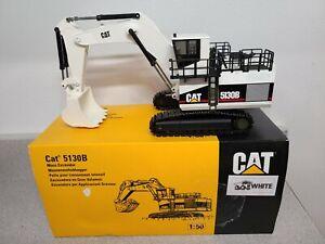 Caterpillar Cat 5130B Mining Mass Excavator - White - NZG 1:50 Scale #391/1 New!