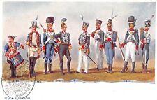 4148) GRANATIERI DI SARDEGNA, UNIFORMI STORICHE 1780 / 1820.