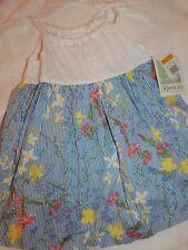 BNWT BONNIE Jean Size 3T Pinstriped Blue White Eyelet Dress Floral Pretty