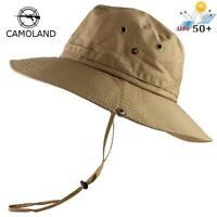 UPF50+ Sun Hat Women Men Mesh Bucket Hat Summer Fishing Hiking Cap Wide Brim UV