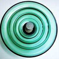 "SEDIVER HIGH VOLTAGE SUSPENSION INSULATOR 10"" BALL & SOCKET GREEN GLASS"
