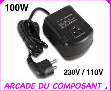 CONVERTISSEUR  DE TENSION 220V VERS 110V PUISSANCE 100W (ref 56000-1)Poids 1,4Kg