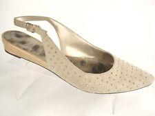 Sam Edelman Idahlia Slingback Flats Paint Ton Studs Beige / Tan Women's Size 8 M