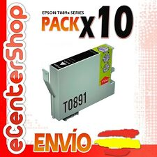 10 Cartuchos de Tinta Negra T0891 NON-OEM Epson Stylus SX215