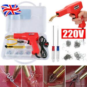 Hot Stapler Gun Plastic Repair Car Bumper Welding Welder Machine Kit+200 Staples