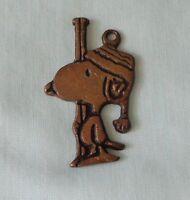 1958 UFS Aviva Peanuts Charlie Brown Dog Snoopy Key Chain Solid Brass Vintage