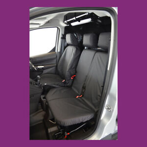 Ford Transit Connect 2014-2018 Tailored Waterproof Front 3 Black Seat Covers